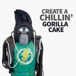 create a chilling gorilla cake