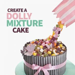 create a dolly mixture birthday cake