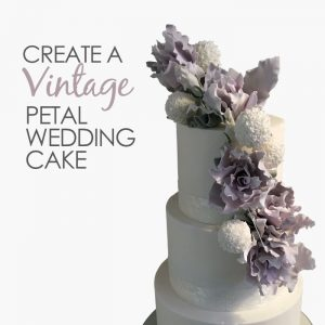 create a vintage petal wedding cake