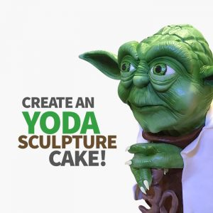 create a yoda sculpture cake