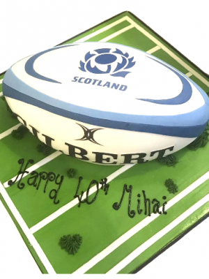 Rugby Ball Cake Masterclass